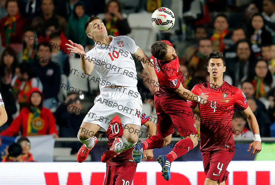 Dusan Tadic Uefa EURO 2016 qualifying football match between Portugal and Serbia in Lisboa, Portugal on March 29. 2015.  (credit image & photo: Pedja Milosavljevic / STARSPORT)