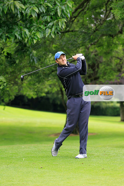 Paul Burke (Mullingar) on the 3rd tee during round 1 of The Mullingar Scratch Cup in Mullingar Golf Club on Sunday 3rd August 2014.<br /> Picture:  Thos Caffrey / www.golffile.ie
