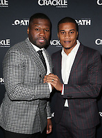 CULVER CITY, CA - MARCH 7: Curtis &quot;50 Cent&quot; Jackson, Cory Hardrict, pictured at Crackle's The Oath Premiere at Sony Pictures Studios in Culver City, California on March 7, 2018. <br /> CAP/MPIFS<br /> &copy;MPIFS/Capital Pictures