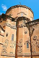 10th century Armenian Orthodox Cathedral of the Holy Cross on Akdamar Island, Lake Van Turkey 74