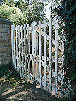 An old gate in Brittany, France, in the village of Menec.