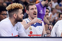 Real Madrid's Jeffery Taylor and Andres Nocioni during Finals match of 2017 King's Cup at Fernando Buesa Arena in Vitoria, Spain. February 19, 2017. (ALTERPHOTOS/BorjaB.Hojas) /NortEPhoto.com