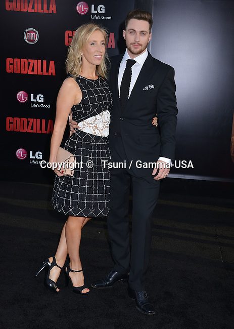 Aaron Taylor-johnson, Wife Sam Taylor-johnson 024 at the Godzilla Premiere at the Dolby Theatre in Los Angeles.