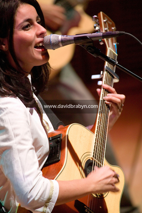 11 November 2004 - New York City, NY - Algerian folk singer Souad Massi performs at the Carnegie Hall in New York City, 11 November 2004.
