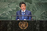 DSG meeting<br /> <br /> AM Plenary General DebateHis<br /> <br /> His Excellency Shinzo ABE Prime Minister of Japan