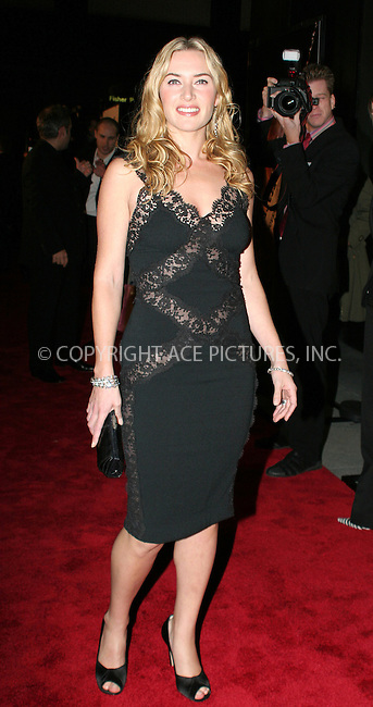 "WWW.ACEPIXS.COM . . . . . ....October 30 2005, New York City....Kate Winslet arriving at the New York premiere of the Universal Pictures movie ""Jarhead"" at the Ziegfeld Theatre.....Please byline: NANCY RIVERA- ACE PICTURES.. . . . . . ..Ace Pictures, Inc:  ..Craig Ashby (212) 243-8787..e-mail: picturedesk@acepixs.com..web: http://www.acepixs.com"