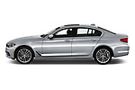 Car driver side profile view of a 2019 BMW 5 Series 540i Sport Line 4 Door Sedan