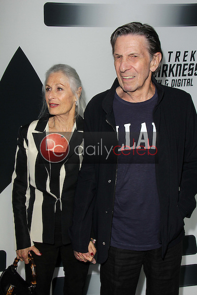 """Leonard Nimoy and wife Susan<br /> at the """"Star Trek Into Darkness"""" Blu-Ray and DVD Release Party, California Science Center, Los Angeles, CA 09-10-13<br /> David Edwards/Dailyceleb.com 818-249-4998"""