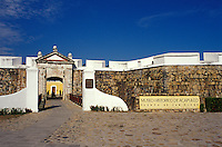 Entrance to Fuerte San Diego in Acapulco, Mexico. This 17th century Spanish fort was built to protect Acapulco from English and Dutch pirates. it has been extensively restored and now houses the Museo Historico de Acapulco.
