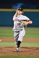 Indianapolis Indians pitcher Josh Wall (30) delivers a pitch during a game against the Rochester Red Wings on July 26, 2014 at Frontier Field in Rochester, New  York.  Rochester defeated Indianapolis 1-0.  (Mike Janes/Four Seam Images)