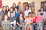 18TH BIRTHDAY: Sarah Hayes, Mountain Close, Balloonagh, Tralee (seated 5th left) having a great time celebrating her 18th birthday with family and friends at her home on Saturday.