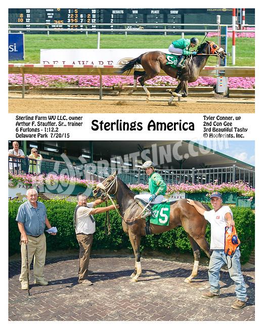 Sterlings America winning at Delaware Park on 7/20/15