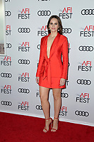 "LOS ANGELES - NOV 8:  Felicity Jones at the AFI FEST 2018 - Opening Gala  ""On The Basis Of Sex""  at the TCL Chinese Theater IMAX on November 8, 2018 in Los Angeles, CA"