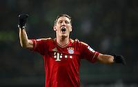 FUSSBALL   1. BUNDESLIGA   SAISON 2012/2013    22. SPIELTAG VfL Wolfsburg - FC Bayern Muenchen                       15.02.2013 Schlussjubel:  Bastian Schweinsteiger (FC Bayern Muenchen)