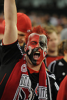 DC United Fan. The Chicago Fire defeated DC United 2-0 at RFK Stadium, Saturday April 17, 2010.