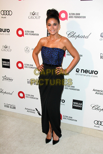 WEST HOLLYWOOD, CA - FEBRUARY 22: Emmanuelle Chriqui at the 2015 Elton John AIDS Foundation Oscar Party in West Hollywood, California on February 22, 2015. <br /> CAP/MPI/DC/DE<br /> &copy;DE/DC/MPI/Capital Pictures
