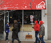 Ian's Pizza prepares free pizza, paid for by donations around the world, for protesters at the State Capitol rally for union rights on Saturday, 2/26/11, in Madison, Wisconsin