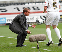 Npower Championship, Swansea City FC (white) V Sheffield United. Sat 7th May 2011 (12.45pm KO)<br /> Pictured:Swansea manager Brendan Rodgers<br /> Picture by: Ben Wyeth / Athena Picture Agency<br /> info@athena-pictures.com<br /> 07815 441513