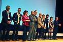 Apr. 28, 2010 - Tokyo, Japan - (L-R) Marco Bellocchio, Giuseppe Capotondi, Francesca Calvelli, Giorgio Diritti, Simone Bachini, Davide Ferrario, Francesca Bocca, Luca Lucini, Susanna Nicchiarelli and Giuseppe Piccioni attend the opening ceremony of the Tenth Festival del Cinema Italiano 2010 in Tokyo, on April 28, 2010. The seven-day film festival will introduce 14's Italian movies for its 10th Anniversary. (photo Laurent Benchana/Nippon News)