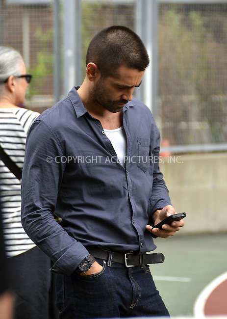 WWW.ACEPIXS.COM . . . . .  ....June 25 2012, New York City....Actor Colin Farrell on the set of the new movie 'Dead man Down' on June 25 2012 in New York City....Please byline: CURTIS MEANS - ACE PICTURES.... *** ***..Ace Pictures, Inc:  ..Philip Vaughan (212) 243-8787 or (646) 769 0430..e-mail: info@acepixs.com..web: http://www.acepixs.com