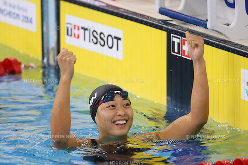 Satomi Suzuki (JPN), <br /> SEPTEMBER 25, 2014 - Swimming : <br /> Women's 50m Breaststroke Final <br /> at Munhak Park Tae-hwan Aquatics Center <br /> during the 2014 Incheon Asian Games in Incheon, South Korea. <br /> (Photo by YUTAKA/AFLO SPORT)
