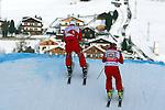 SKI-CROSS-WC-MEN-SAN CANDIDO.. Alex FIVA, Armin NIEDERER on 23/12/2012 in San Candido / Innichen, Italy. ..© Pierre Teyssot