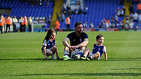 Ipswich Town's Alan Judge sits on the pitch with his children<br /> <br /> Photographer Hannah Fountain/CameraSport<br /> <br /> The EFL Sky Bet Championship - Ipswich Town v Swansea City - Monday 22nd April 2019 - Portman Road - Ipswich<br /> <br /> World Copyright © 2019 CameraSport. All rights reserved. 43 Linden Ave. Countesthorpe. Leicester. England. LE8 5PG - Tel: +44 (0) 116 277 4147 - admin@camerasport.com - www.camerasport.com