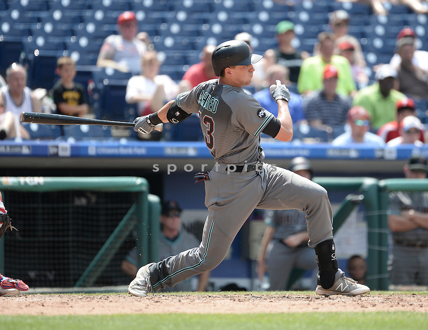 Arizona Diamondbacks Nick Ahmed (13) during a game against the Philadelphia Phillies on June 20, 2016 at Citizens Bank Park in Philadelphia, PA. The Diamondbacks beat the Phillies 3-1.
