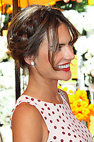 PACIFIC PALISADES, CA - OCTOBER 05: Model Alessandra Ambrosio arrives at the 4th Annual Veuve Clicquot Polo Classic held at Will Rogers Polo Grounds on October 5, 2013 in Pacific Palisades, California. (Photo by Xavier Collin/Celebrity Monitor)