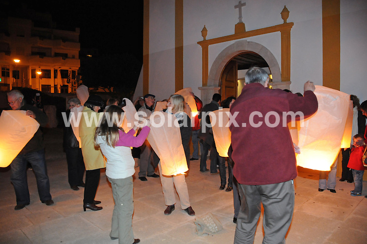 **PICTURES FROM SOLARPIX.COM**.**WORLDWIDE SYNDICATION RIGHTS**.Lanterns are released outside the Church in Luz Bay as part of a special service to commemorate 1,000 days since Madeleine McCann disappeared from her parents holiday apartment in Praia da Luz on the Algarve, Portugal..This pic:  Lanterns are released outside the Church in Luz.JOB REF:   10560     PPL        DATE:  27.01.10.**MUST CREDIT SOLARPIX.COM OR DOUBLE FEE WILL BE CHARGED**.**MUST NOTIFY SOLARPIX OF ONLINE USAGE**.**CALL US ON: +34 952 811 768 or LOW RATE FROM UK 0844 617 7637**