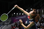 Nozomi Okuhara (JPN), <br /> AUGUST 23, 2018 - Badminton : <br /> Women's Singles Round of 32 <br /> at Gelora Bung Karno Istora <br /> during the 2018 Jakarta Palembang Asian Games <br /> in Jakarta, Indonesia. <br /> (Photo by Naoki Nishimura/AFLO SPORT)