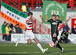Leigh Griffiths wins the ball for Celtic