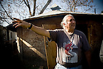 Winnemem headman Mark Franco points out the extent of their land outside their prayer house in Jones Valley, Calif. March 17, 2010.
