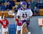 UAlbany Men's Lacrosse defeats Stony Brook on March 31 at Casey Stadium.  Josh Egan (#43).
