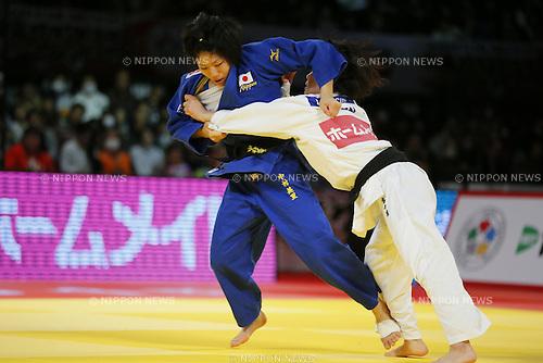 (L-R) Misato Nakamura, Ai Shishime (JPN), DECEMBER 5, 2015 - Judo : IJF Grand Slam Tokyo 2015 International Judo Tournament Women's -52kg Final Match at Tokyo Metropolitan Gymnasium, Tokyo, Japan. (Photo by Yusuke Nakanishi/AFLO SPORT)