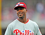 13 April 2009: Philadelphia Phillies' shortstop Jimmy Rollins smiles in the infield during the Washington Nationals' Home Opener at Nationals Park in Washington, DC. The Nats fell short in their 9th inning rally, losing 9-8, as the visiting Phillies handed the Nats their 7th consecutive loss of the 2009 season. Mandatory Credit: Ed Wolfstein Photo