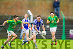 Templenoe's Mike Hallissey and Danny Battersby of Curraha in the AIB GAA Football All Ireland Junior Club Championship.