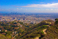 Los Angeles, Runyon Canyon Trail, LA Skyline, Hollywood