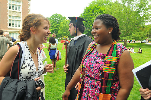 Vassar College graduates, family, friends celebrate on.Graduation Day, May 24, 2009.