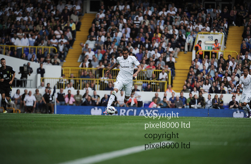 Sandro Raniere of Tottenham Hotspur in action during the Barclays Premier League match between Tottenham Hotspur and Norwich City at White Hart Lane on September 1, 2012 in London, England. Picture Zed Jameson/pixel 8000 ltd.