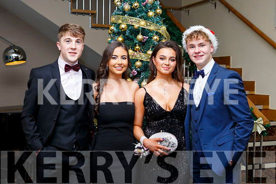 Doing a selfie at the CBS Debs in Ballyroe Hotel on Frday night last, l-r, Jason Mortimor (Tralee), Emma Godley (Tralee), Hannah Stack (Tralee) and John Walsh (Knocknagosh).