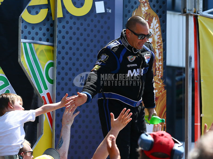 Jun. 2, 2013; Englishtown, NJ, USA: NHRA top fuel dragster driver Brandon Bernstein during the Summer Nationals at Raceway Park. Mandatory Credit: Mark J. Rebilas-