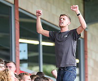 Fleetwood Townfans sing during the second half<br /> <br /> Photographer Alex Dodd/CameraSport<br /> <br /> The EFL Sky Bet League One - Fleetwood Town v Accrington Stanley - Saturday 15th September 2018  - Highbury Stadium - Fleetwood<br /> <br /> World Copyright &copy; 2018 CameraSport. All rights reserved. 43 Linden Ave. Countesthorpe. Leicester. England. LE8 5PG - Tel: +44 (0) 116 277 4147 - admin@camerasport.com - www.camerasport.com