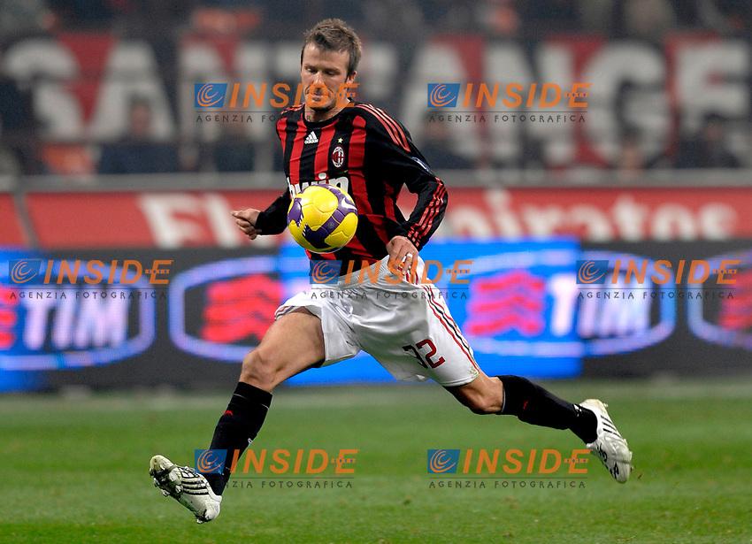 David Beckham (Milan)<br /> Milano 17/1/2009 Stadio &quot;Giuseppe Meazza&quot; <br /> Campionato Italiano Serie A 2008/2009<br /> Milan Fiorentina (1-0)<br /> Foto Andrea Staccioli Insidefoto