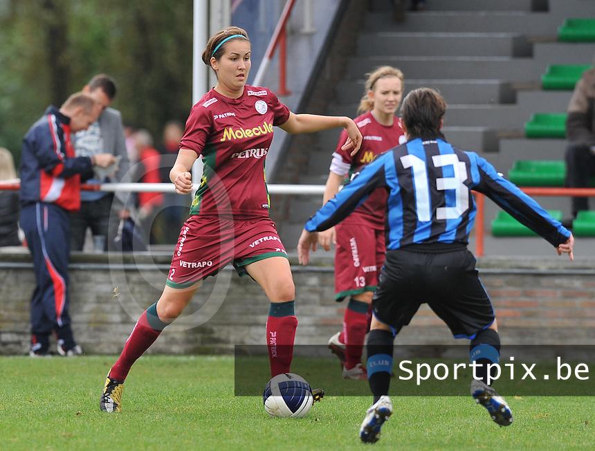 Club Brugge Dames - Dames Zulte Waregem : Helene Delebarre.foto DAVID CATRY / Vrouwenteam.be
