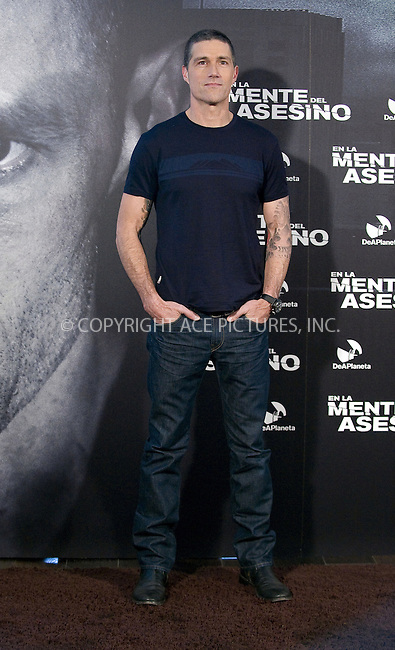 WWW.ACEPIXS.COM....US SALES ONLY....November 12 2012, Madrid....Actor Matthew Fox attends the 'Alex Cross' photocall at Hotel ME on November 12, 2012 in Madrid, Spain. ....By Line: FD/ACE Pictures......ACE Pictures, Inc...tel: 646 769 0430..Email: info@acepixs.com..www.acepixs.com
