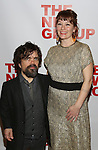 "Peter Dinklage and Erica Schmidt, pregnant, attends the Opening Night of The New Group World Premiere of ""All The Fine Boys"" at the The Green Fig Urban Eatery on March 1, 2017 in New York City."
