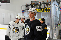 June 28, 2018: Boston Bruins defenseman Nick Wolff (92) lines up to skate in a drill during the Boston Bruins development camp held at Warrior Ice Arena in Brighton Mass. Eric Canha/CSM