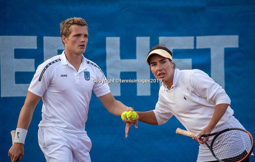 Zandvoort, Netherlands, 8 June, 2019, Tennis, Play-Offs Competition, Mixed doubles: Ivakhnenko/Ryan Nijboer<br /> Photo: Henk Koster/tennisimages.com