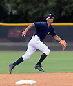 Gosuke Kato (Yankees), JUNE 21, 2013 - MLB : Gosuke Katoh of the Yankees in action during the Gulf Coast League game between the Gulf Coast League Yankees1 and the Gulf Coast League Pirates at Yankee Complex in Tampa, Florida, United States. (Photo by AFLO)